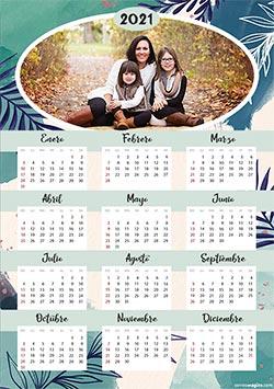 Calendarios 2020 para imprimir. Calendario 2021