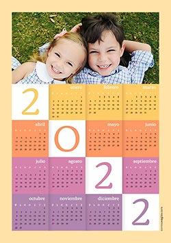 Calendarios 2020 para imprimir. Calendario 2022