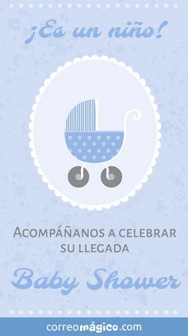 Tarjeta de Invitacion de BabyShower para whatsapp para enviar desde tu celular o computadora