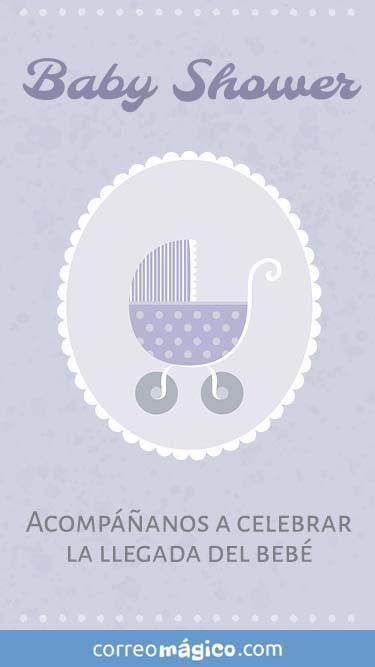 Tarjeta de Invitación a babyshower para whatsapp para enviar desde tu celular o computadora