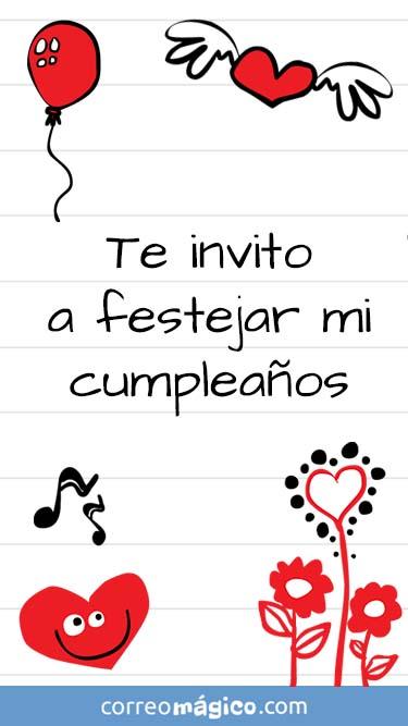 Tarjeta de Invitacion de Cumpleaños para whatsapp para enviar desde tu celular o computadora