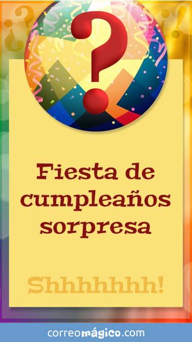Tarjeta de Invitacion a fiesta sorpresa para whatsapp para enviar desde tu celular o computadora