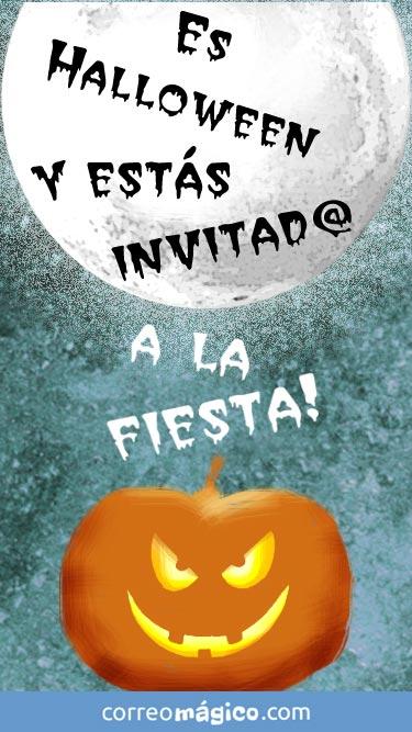 Tarjeta de Invitacion a fiesta de Halloween para whatsapp para enviar desde tu celular o computadora