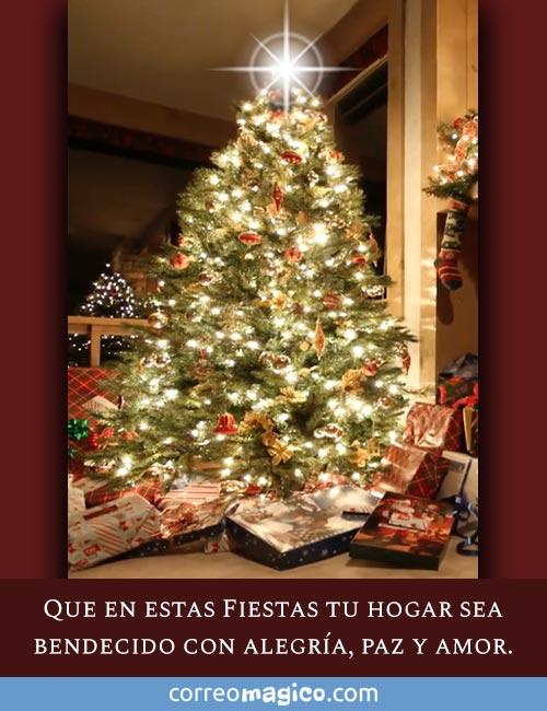 Que en estas Fiestas tu hogar sea bendecido con Alegría, Paz y Amor.