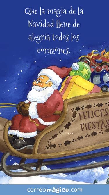 Que la magia de la Navidad llene de alegría todos los corazones. Felices Fiestas