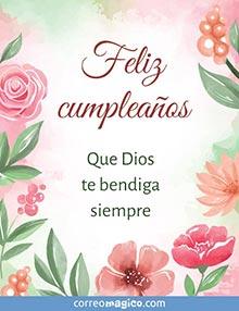 Feliz cumpleaños.   Que Dios te bendiga siempre