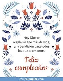Hoy Dios te regala un año más de vida, una bendición para todos los que te amamos.  Feliz cumpleaños