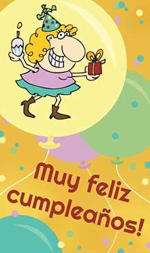 En el dia de su cumpleaños muchas personas se sienten felices. Feliz cumpleaños