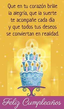 Este es un regalo para ti. Que en tu corazon brille la alegría. Feliz cumpleaños