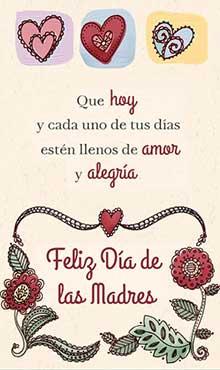 Que hoy y cada dia estén llenos de amor y alegría