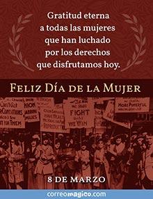 Gratitud eterna a todas las mujeres que han luchado por los derechos que disfrutamos hoy. Feliz Día de la Mujer