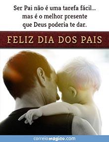 Ser Pai não é uma tarefa fácil...  mas é o melhor presente que Deus poderia te dar.  FELIZ DIA DOS PAIS