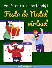 Você está convidad@!  Festa de Natal virtual