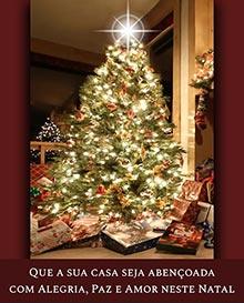 Que a sua casa seja abençoada com Alegria, Paz e Amor neste Natal.